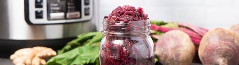 Beet and Cabbage Sauerkraut