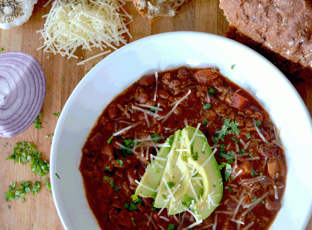 Lazy Sunday Shredded Beef Chili