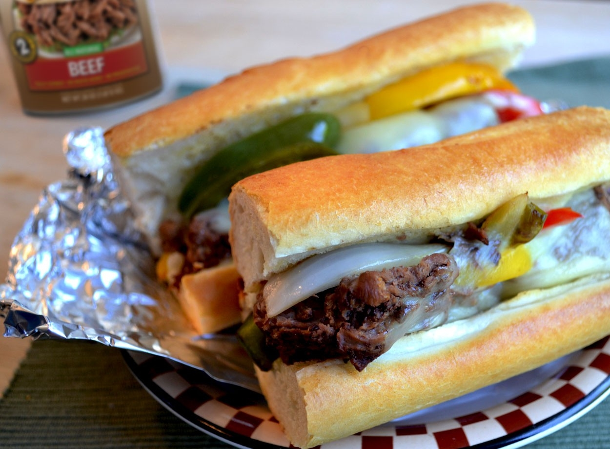 Tinfoil Philly Cheesesteak Sandwiches