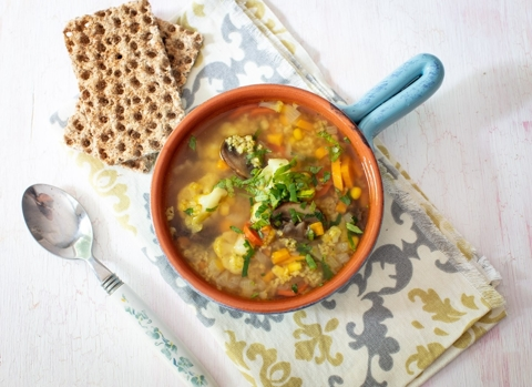 Vegetable Soup with Millet