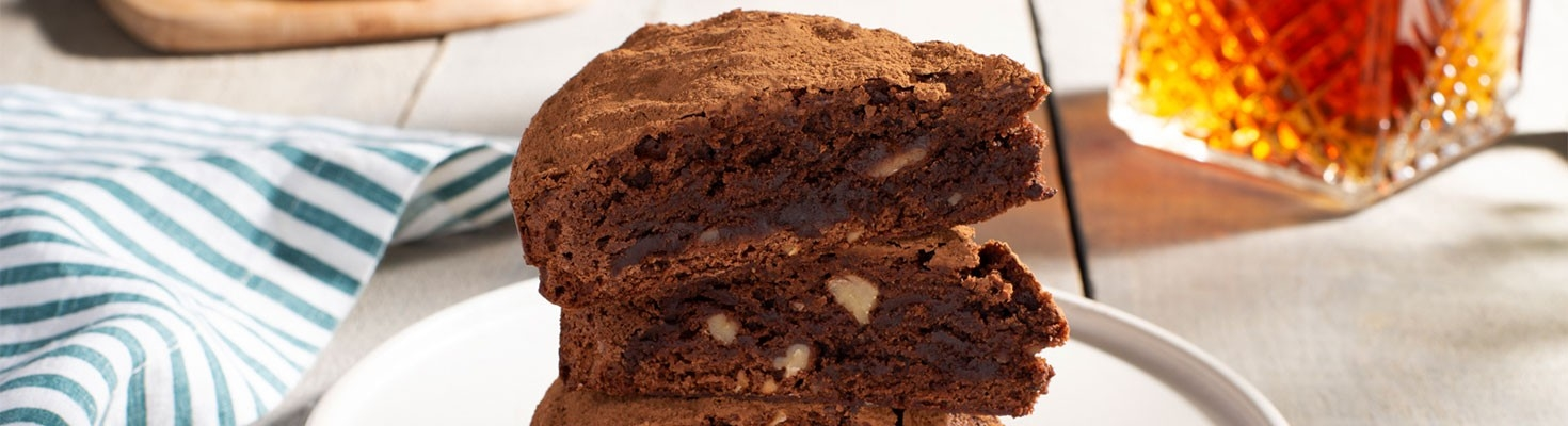 Fudgy Bourbon Brownies