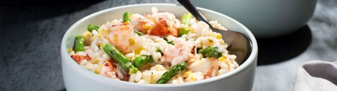 Lobster Asparagus Risotto
