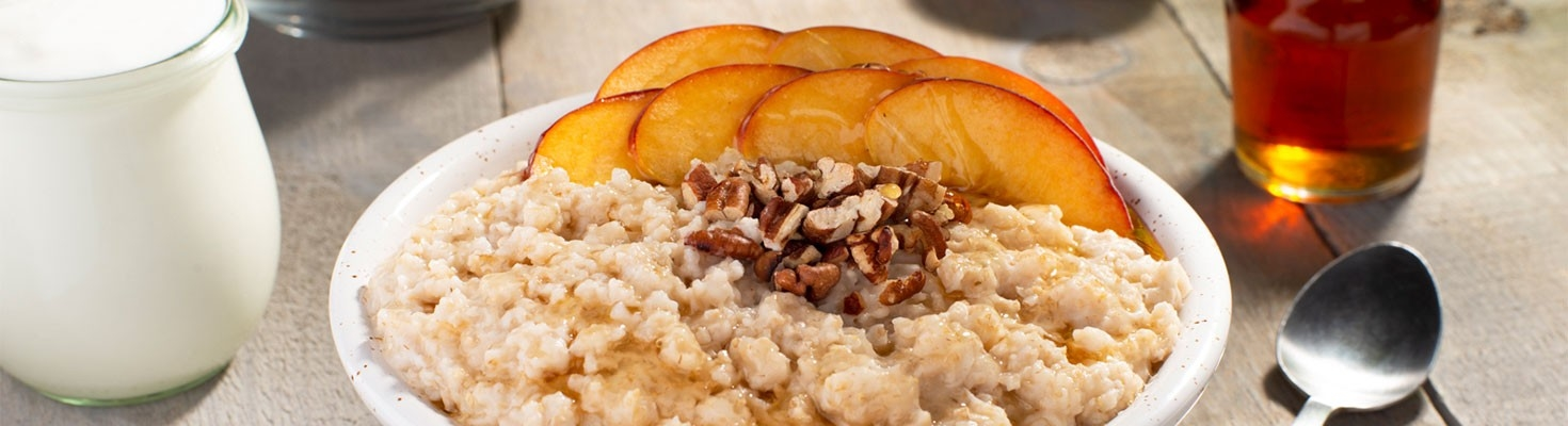 Peaches and Cream Oatmeal Bowl