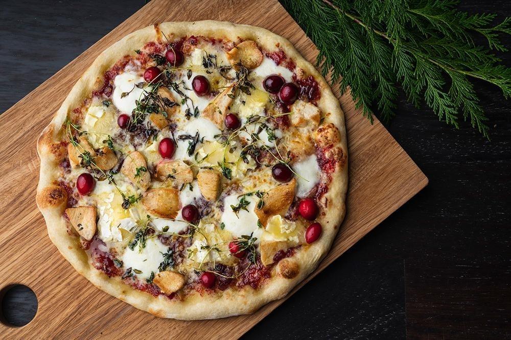 Roast Turkey, Camembert & Cranberry Pizza