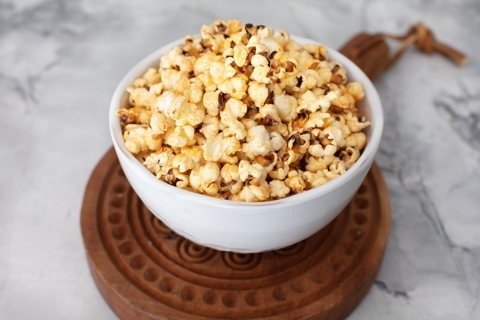Buttery Popcorn with Garlic & Smoked Paprika
