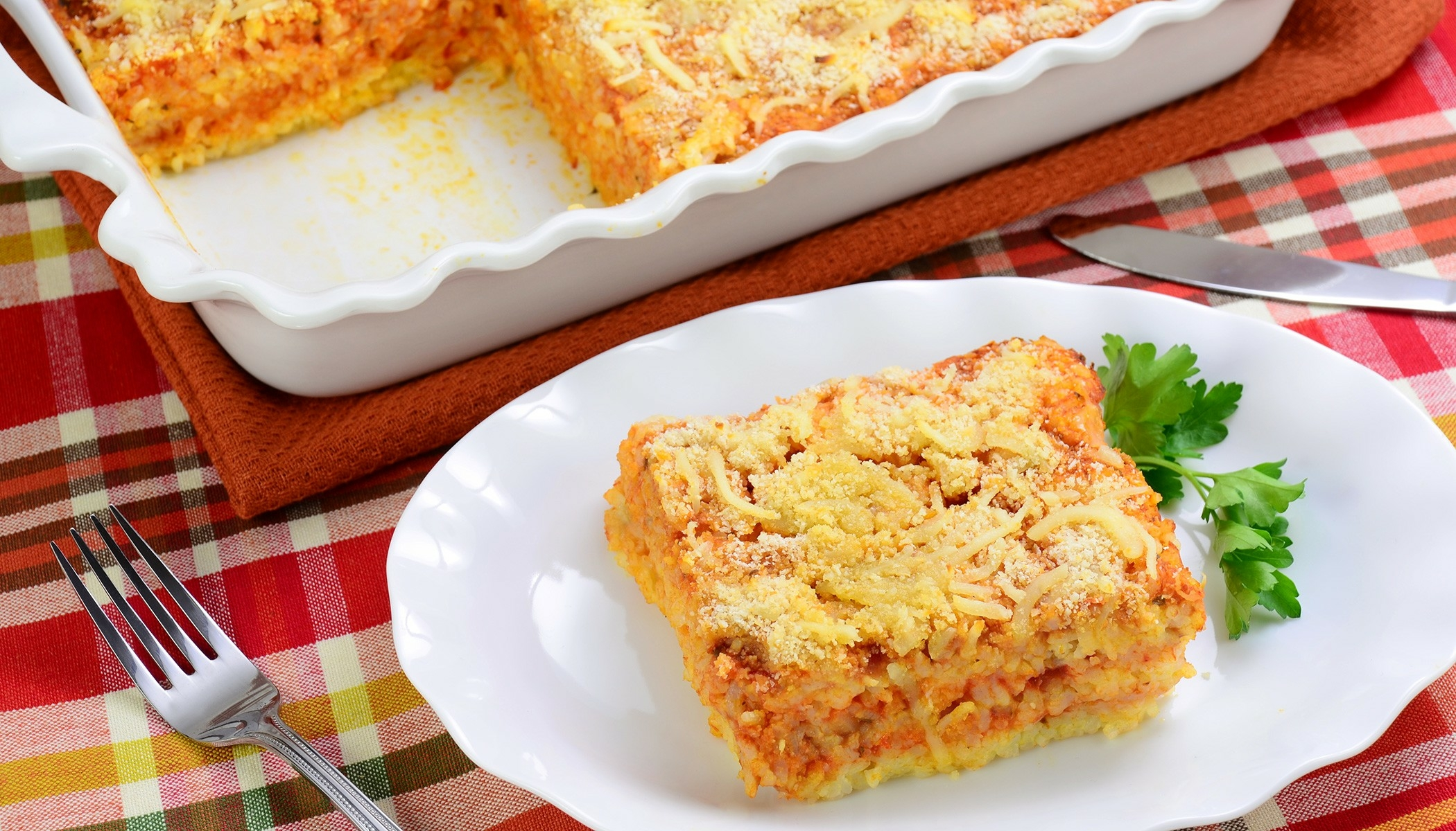 Baked Risotto Lasagna Style
