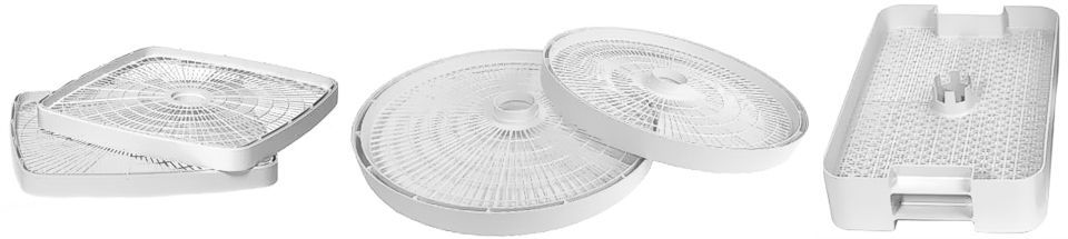 Dehydrator tray shapes