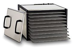 Excalibur D900SHD, stainless cabinet, stainless trays