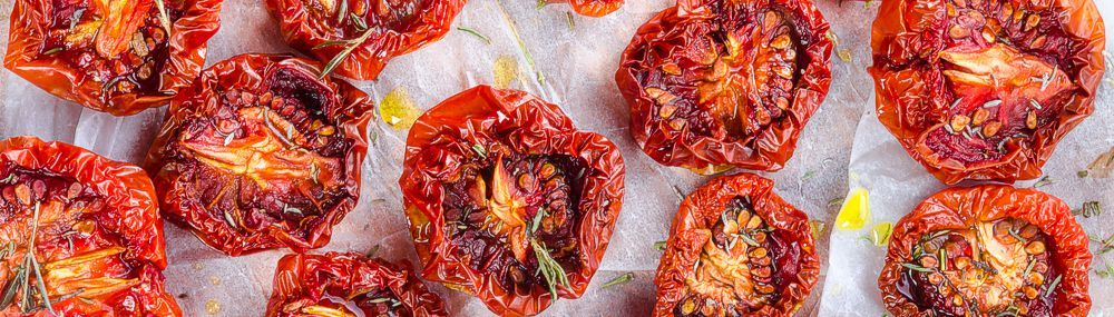 Dried tomatoes from food dehydrator