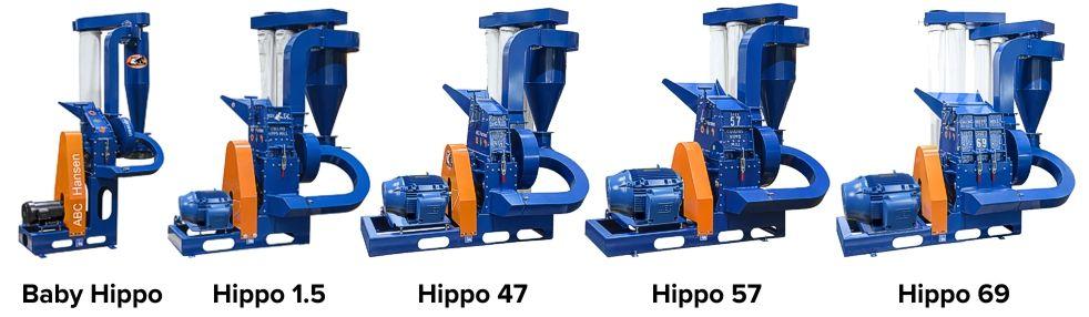 Hippo Hammer Mills for Industrial Hemp