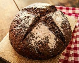 Dark rye black bread boule