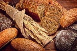 Homemade artisan whole grain breads