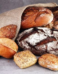 Artisan breads in bag