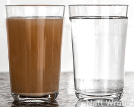 Berkey water comparison: Dirty/Purified