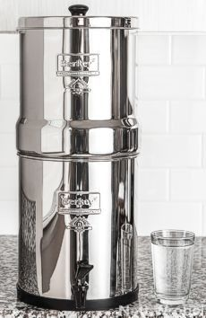 Clean water purified in Big Berkey
