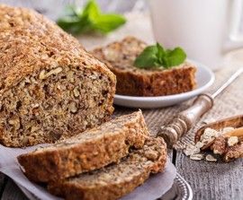 Whole grain quick bread for breakfast