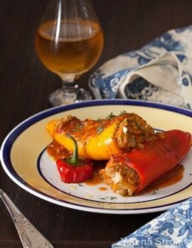 Peppers stuffed with basmati rice