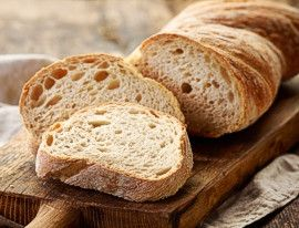 Ciabatta bread sliced