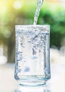 Clean glass of water
