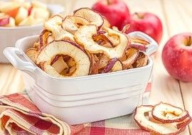 Dried apple slices bowl
