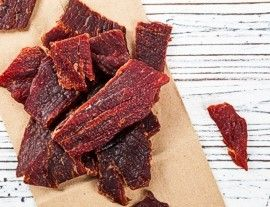 Dried meat jerky