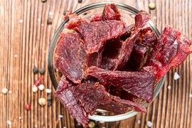 Dried jerky meat
