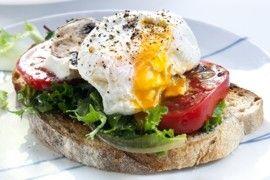 Open face sandwich on artisan bread