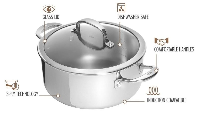 OXO casserole pan features
