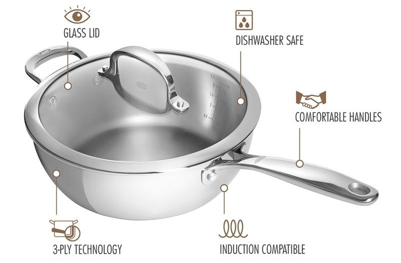 OXO Stainless Steel Sauce Pan features
