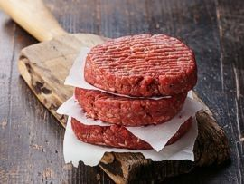 Raw meat patties