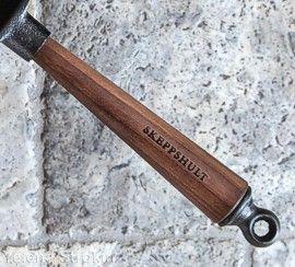 Skeppshult walnut wood handle on wok