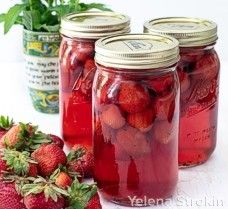 Strawberry syrup canned
