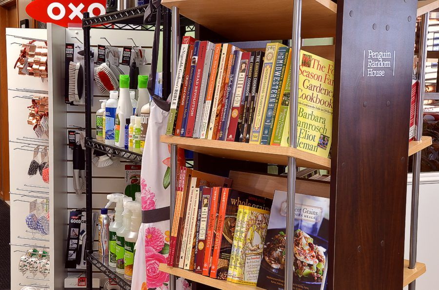 Pleasant Hill Grain Store, cookbooks, cook's tools, cleaning